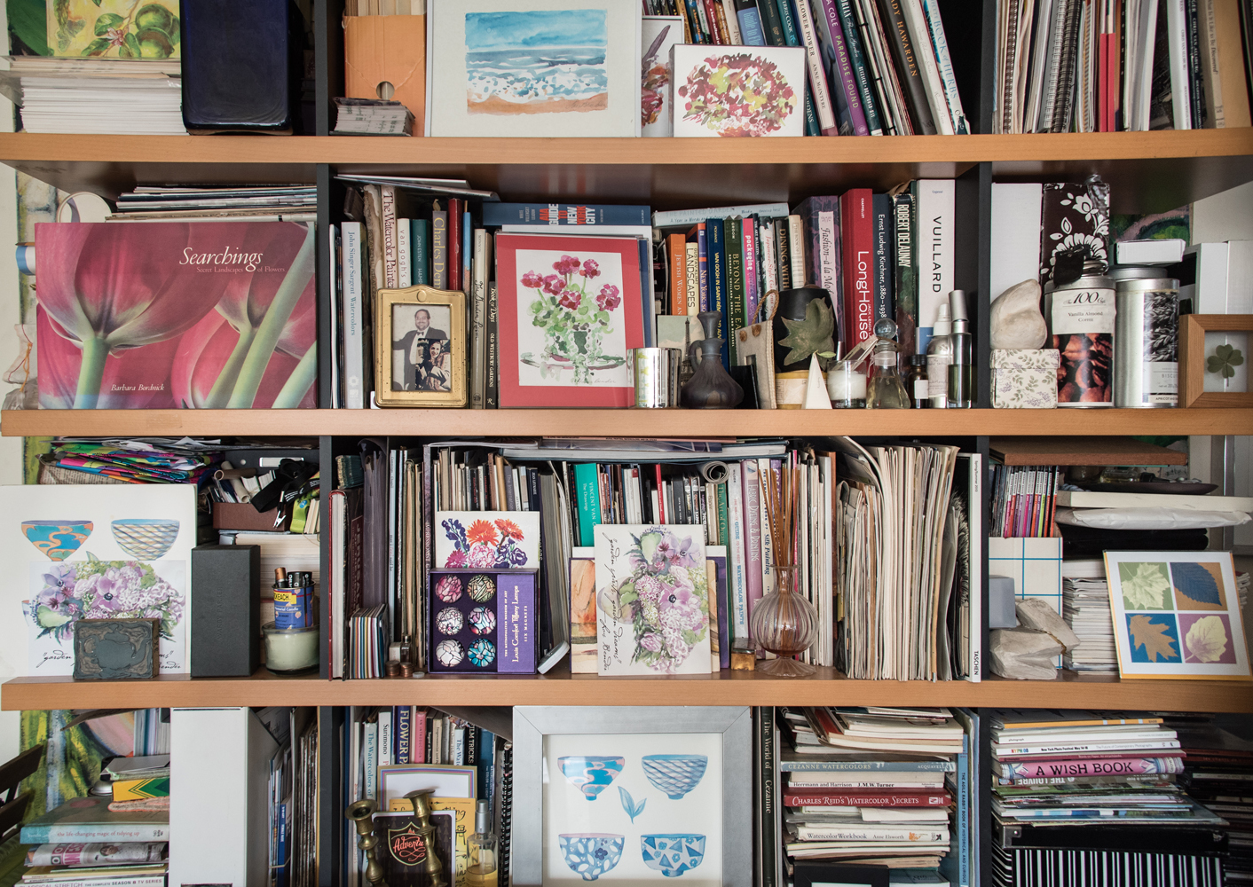 View Image Details Inspiration Bookcase of treasured books, mementos, talismans and memories....