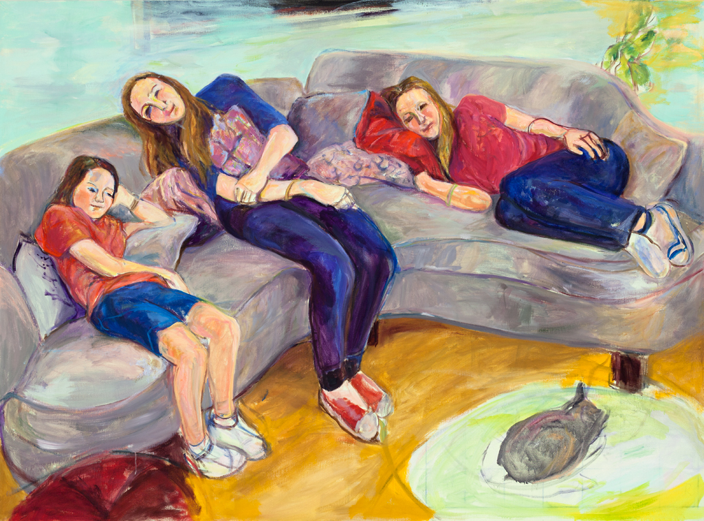 "View Image Details Sisters | Oil on linen | 53.5"" x 72.75"""