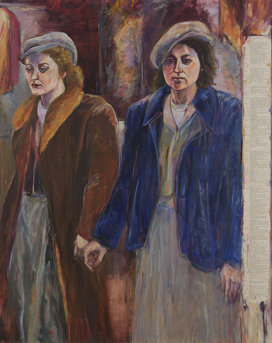 "View Image Details Freedom Fighters | Oil on linen, paper, and wood | 75 1/2"" x 57"" 