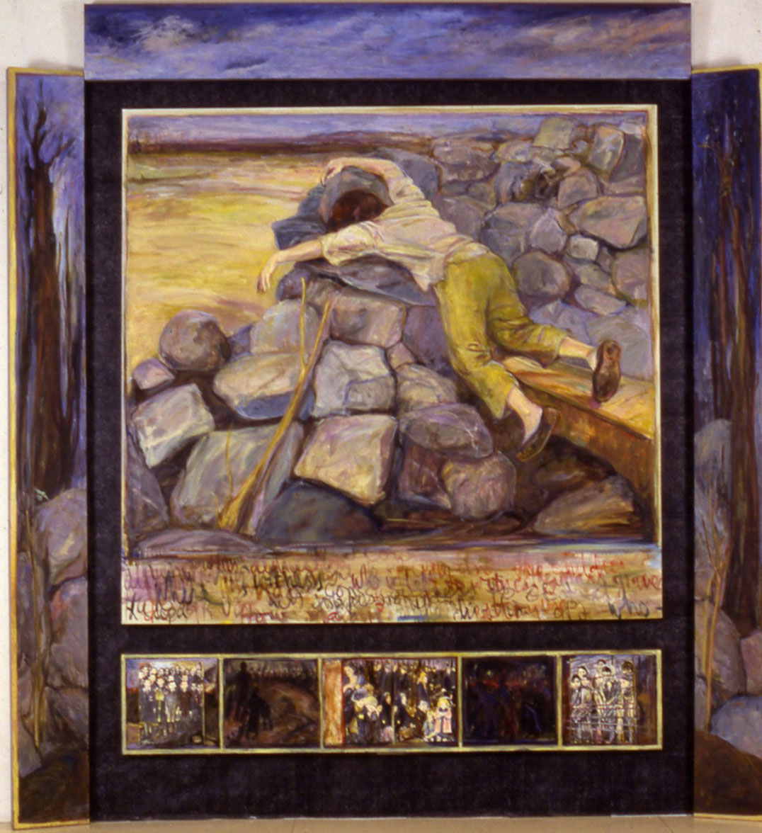 "View Image Details Untitled | Oil on linen and mixed media | 108"" x 98"" x 8"" 