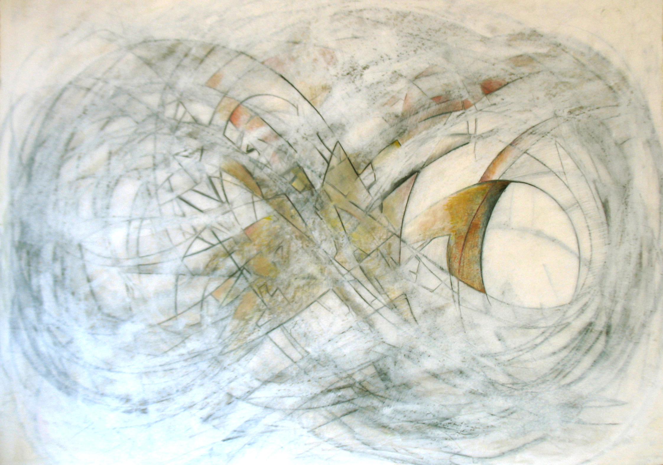 "View Image Details ""Lost in Infinity 7, Rise Up"", 28"" x 23"", charcoal, pencil, oil pastel, water color"