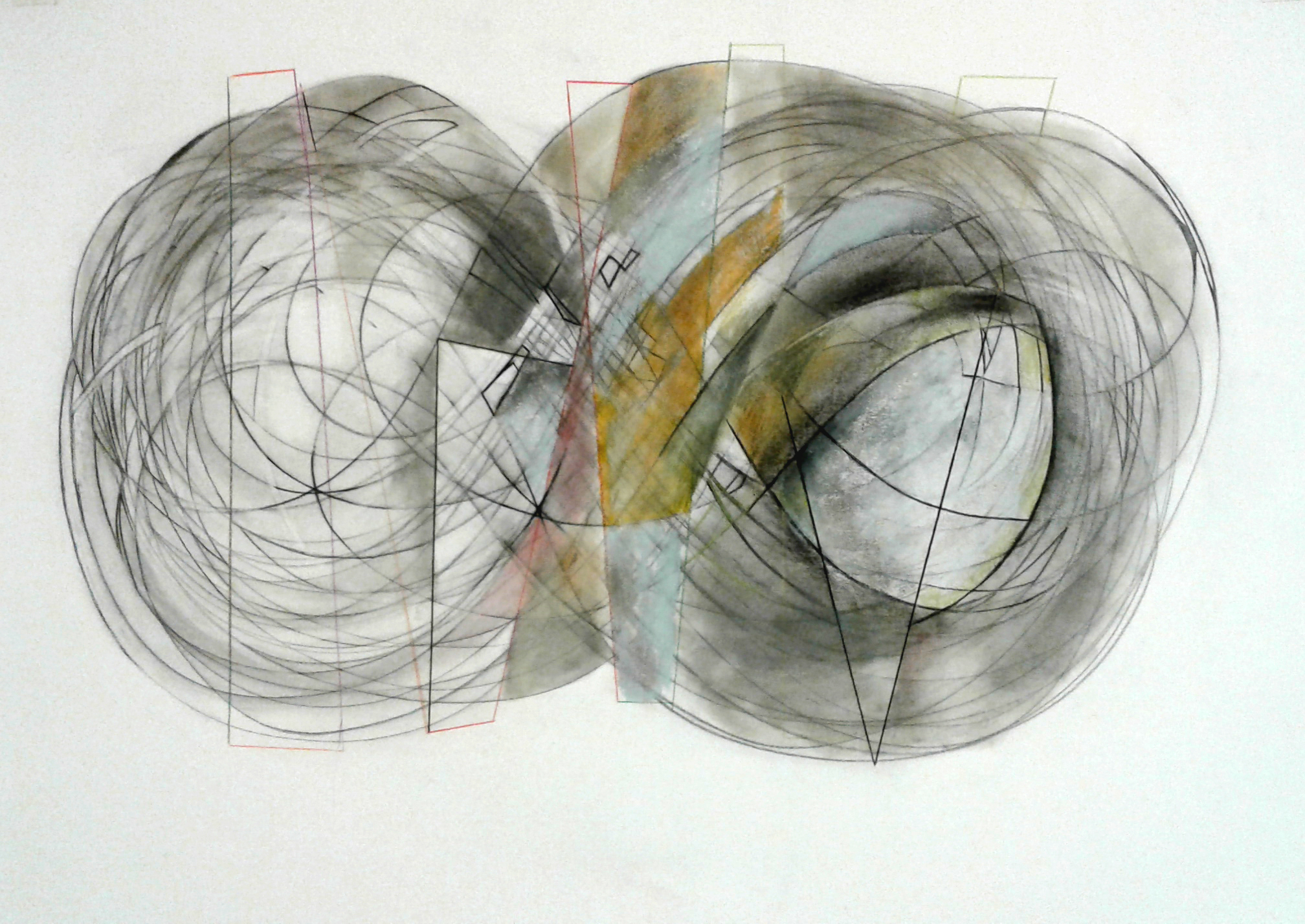 "View Image Details ""Lost in Infinity 8"", 28"" x 23"", charcoal, pencil, oil pastel, water color"