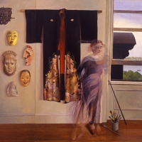 "Portrait of My Studio 72"" x 108"" 2000 oil triptych by Fran Beallor"