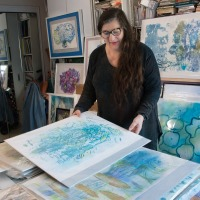 Reviewing the Pond Series in Monoprints
